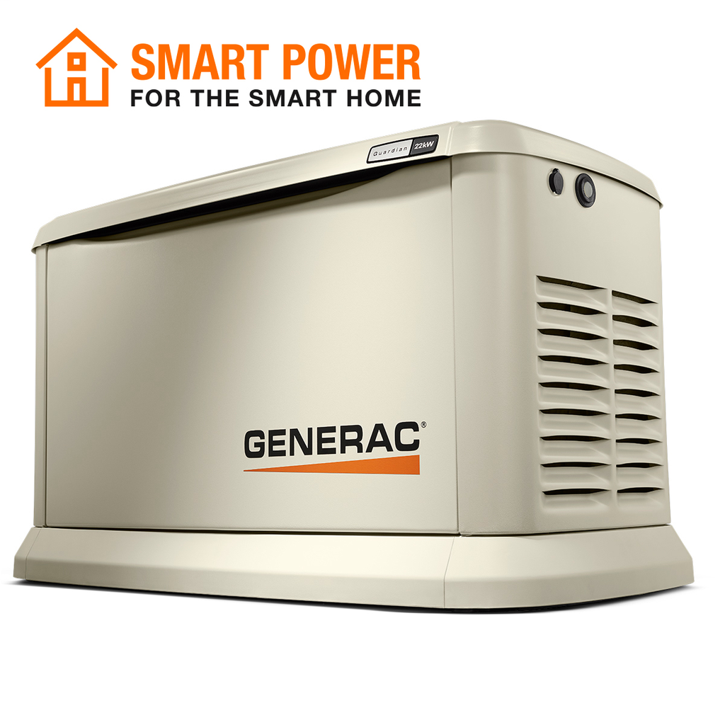 Generac 7042-2 (WIFI) 22/19.5 KW Air-Cooled Standby Generator w/ WiFi Remote Monitoring, Aluminum Enclosure (Unit Only)