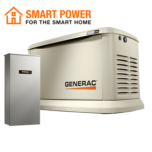 22kW/19.5kW Air Cooled Home Standby Generator with WiFi with Whole House 200 Amp Transfer Switch (non CUL)