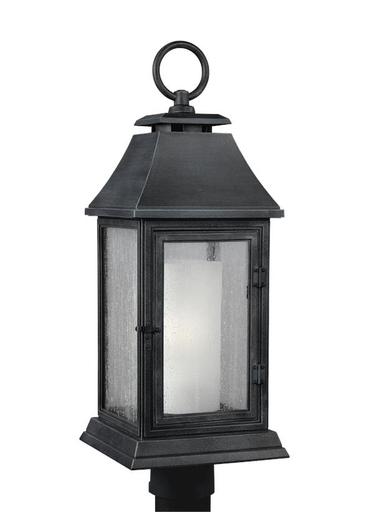 Mayer-Shepherd Post Lantern Dark Weathered Zinc-1