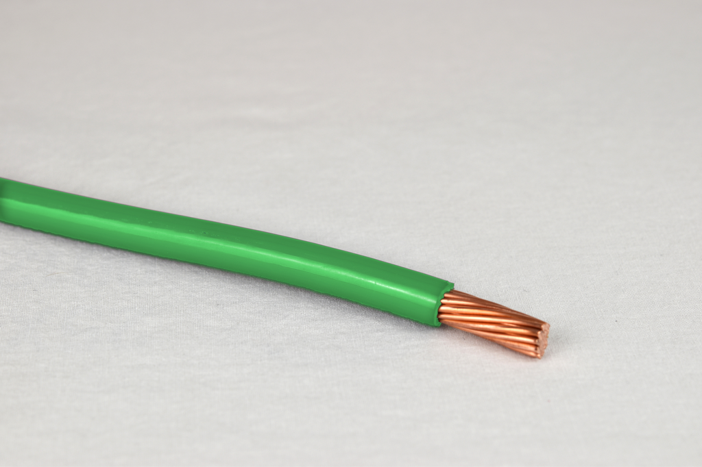 THHN - 8 AWG - 19 Strand - Green - Copper