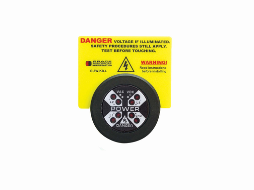 Warning Label for Voltage Indicator with Bezel (Voltage Indicator not included)