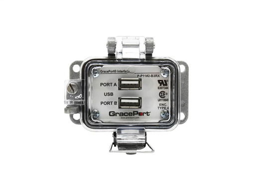 Panel Interface Connector with USB Type A/F to USB Type A/M [Qty: 2] - Panel Mount Housing - UL Type 4 - No outlet/power option