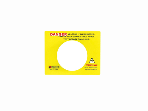 Warning Label for the Voltage Indicator Series (R-3W, R-3W-SR, R-3F2)