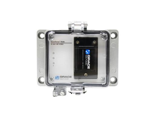 Panel mount node configured for 12-bit temperature and current measurements and IEEE 802.15.4 wireless communication (Zigbee)