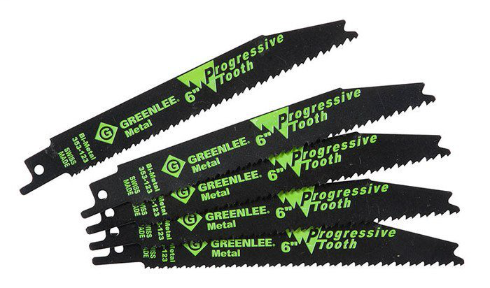 Greenlee 353-123 6 x 3/4 x 0.035 Inch Bi-Metal Straight Back Reciprocating Saw Blade