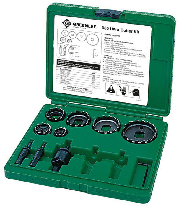GREENLEE 930 HIGH SPEED HOLE CUTTER KIT
