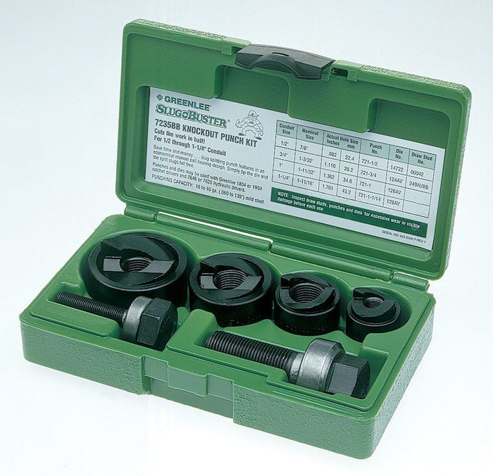 "GRE 7235BB KO PUNCH KIT B 1/2""-1-1/4"" SLUG-BUSTER"
