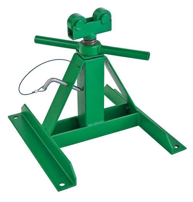 GREENLEE 687 SCREW TYPE REEL STAND 28IN MAXIMUM HEIGHT