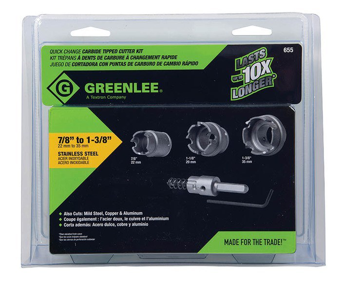 Greenlee,655,HOLE CUTTER KIT (783310058205)