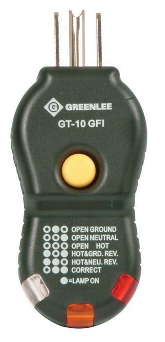 GRE GT-10GFI TESTER,CIRCUIT-GFI (GT-10GFI)