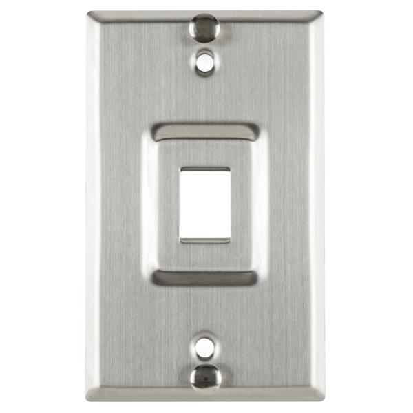 TYT Flush Mount Phone Faceplate 1 Port, Stainless Steel,1/pkg