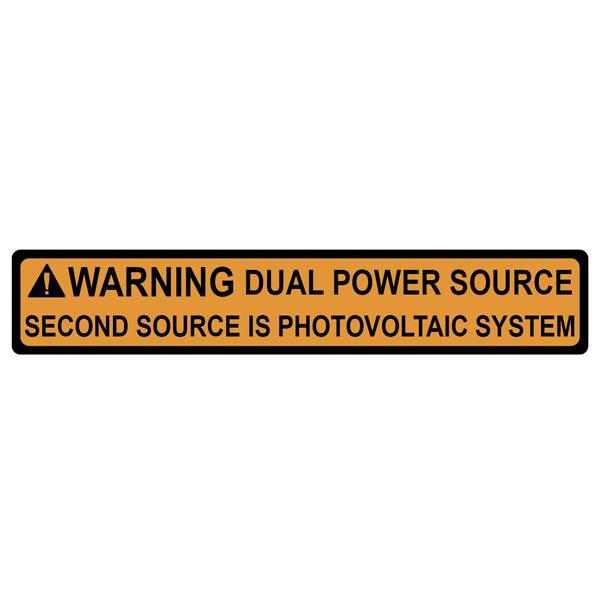 Hellermann Tyton 596-00495 4.12 x 0.75 Inch Orange Vinyl Warning Pre-Printed Solar Installation Label