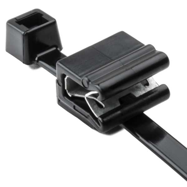Hellermann Tyton 156-00589 Type EC5A 50 lb 7.9 Inch Length .04 - .12 Inch Panel Thickness Polyamide Cable Tie and Edge Clip