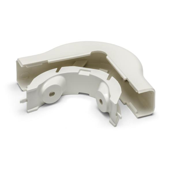 "Mayer-External Corner Cover, 3/4"", 1"" Bend Radius, PVC, Office White, 1/bag-1"