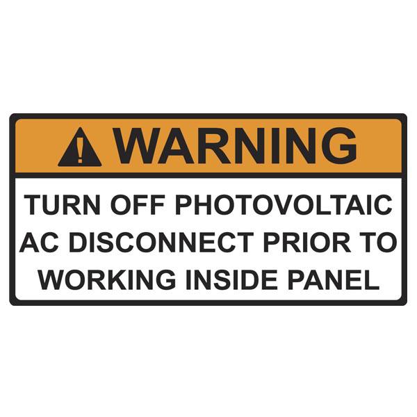 Hellermann Tyton 596-00499 4.12 x 2 Inch Orange/White Vinyl Warning Pre-Printed Solar Installation Label