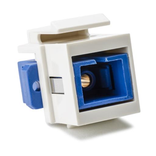SC Singlemode Fiber Insert, Blue, Office White, 1/pkg