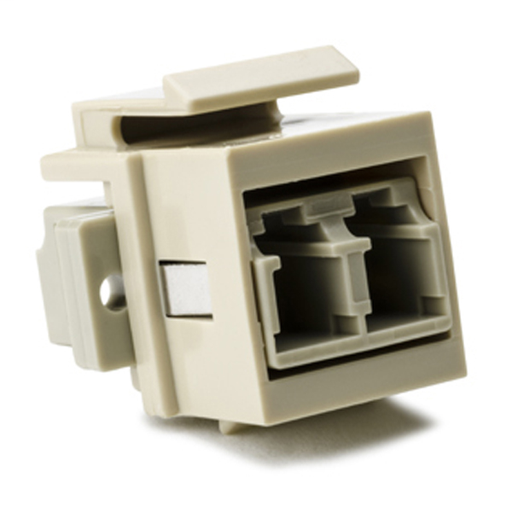 LC Multimode Fiber Module, Beige, Ivory, 1/pkg