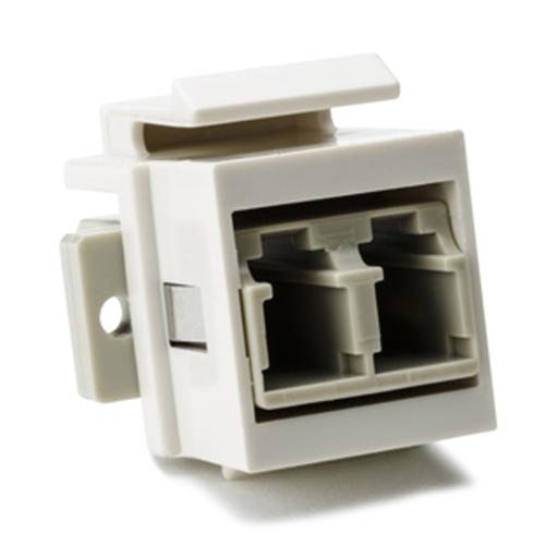LC Multimode Fiber Module, Beige, Office White, 1/pkg