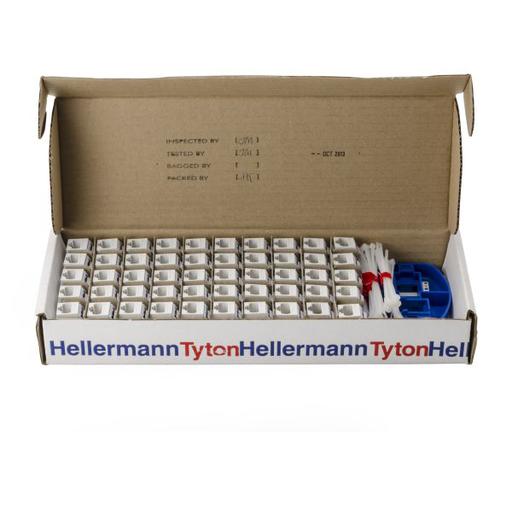 Category 6 Modular Keystone Jack Bulk Pack, Plenum Rated, White, 50/box