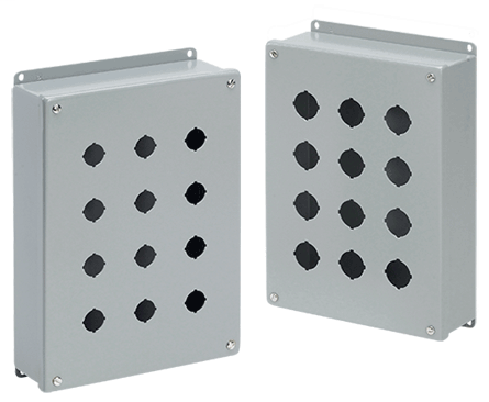 Mayer-These pushbutton enclosures are designed to hold 30.5-mm or 22.5-mm pushbuttons and switches.-1