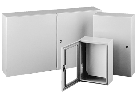 CONCEPT Enclosures are ideal for machine control applications. With streamlined styling, flush quarter-turn latches and an attractive, durable finish. Available in solid or window single-door and two-door landscape, flush-mount and sloped-top versions for application and mounting flexibility. Two-door landscape models provide full-width access and easy panel installation.