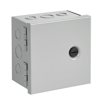 HFM AHE12X12X6 NEMA1 HNG CVR BOX 12.00x12.00x6.00 STEEL/GRAY