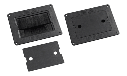 1-Piece Flush-Mount Floor Brush Kit with Cover and Two-Stage Sealing
