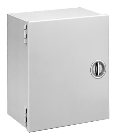 Hoffman A24N206LP 24 x 20 x 6.62 Inch 16 Gauge Steel NEMA 1 Hinge Cover Enclosure