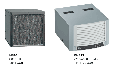 Hoffman MHB110426G306 4000 BTU/HR 230 Volt Sealed Enclosure Cooling Air Conditioner