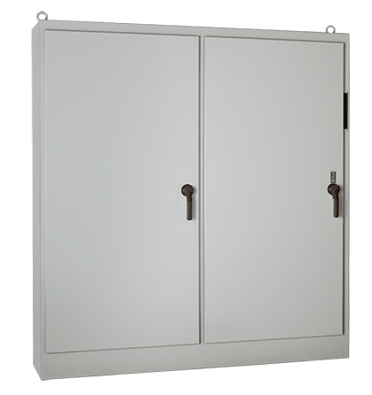 Hoffman A90XM7820FTC 90.12 x 77.75 x 18.12 Inch White Steel NEMA 12 2-Door Free Stand Disconnect Enclosure