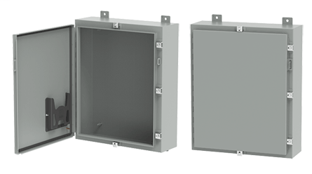 Hoffman A30H20ALP 30 x 20 x 6 Inch Gray 14 Gauge Steel NEMA 4 1-Door Wall Mount Enclosure