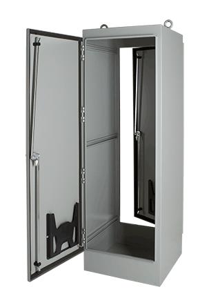 Hoffman A907220FSDG 90.06 x 72.06 x 20.06 Inch Gray 12 Gauge Steel NEMA 12 2-Door Free Stand Enclosure