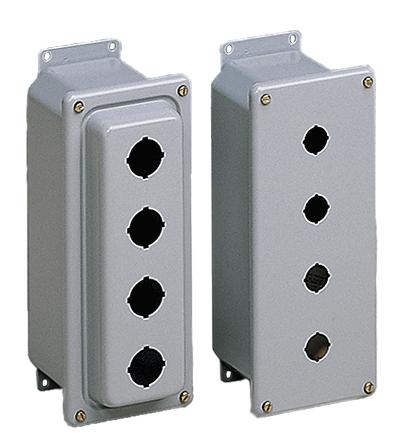Hoffman ED2PBM 5.75 x 4 x 3.75 Inch Gray 16 Gauge Steel NEMA 4 Push Button Enclosure