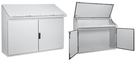 Hoffman PGLD12135DC 46.27 x 49.2 x 18.47 Inch Light Gray 14 Gauge Steel NEMA 12 Desk Console