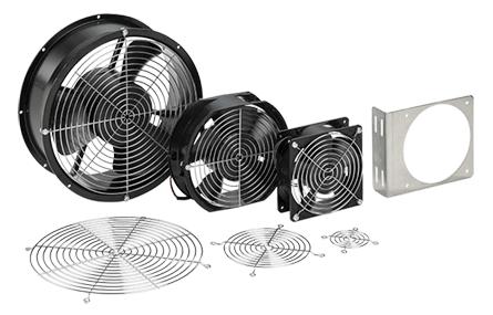 Hoffman A2AXFN24 2 Inch 0.09 Amp 24 VDC 2.16 W Black Compact Axial Fan