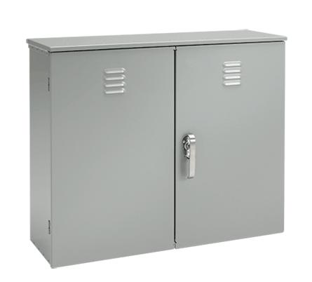 Hoffman A364214BGECT 36 x 42 x 14 Inch Galvanized Steel NEMA 3R Vented Door Current Transformer Cabinet