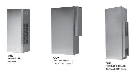 Hoffman CR290426G061 3.7 Amp 1172 W 460 Volt 1-Phase 4000 BTU/HR Mild Steel Sheet Metal Cabinet Mount Air Conditioner