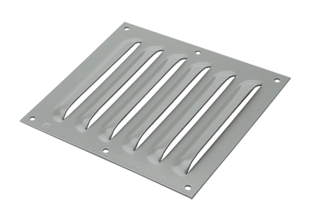 Hoffman AVK88SS6 10.56 x 9.5 Inch Gray Polyester Powder Painted 316L Stainless Steel Louver Plate Kit