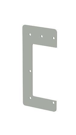 Hoffman F44HD 4 x 4 Inch NEMA 12 Gray Steel Lay-In Wireway Drop Hanger