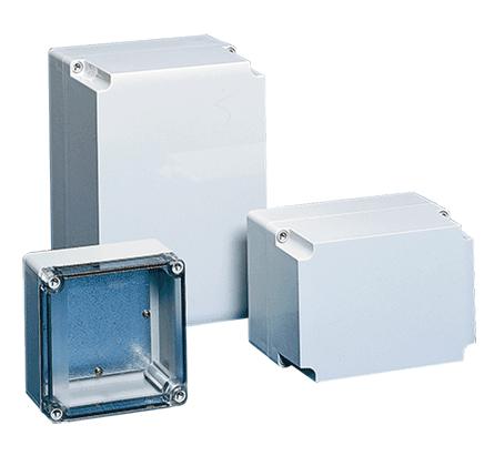 Hoffman Q181810PCE 6.63 x 6.63 x 3.64 Inch Light Gray Polycarbonate NEMA 4X Enclosure