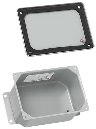 Hoffman A443DSC 3.5 x 4 x 2.75 Inch Gray Steel NEMA 12 Junction Box Screw Cover
