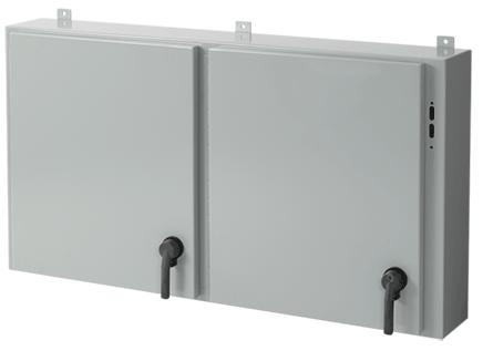 Hoffman A30X2E5408 30 x 54.5 x 8 Inch Steel NEMA 12 2-Door Disconnect Enclosure