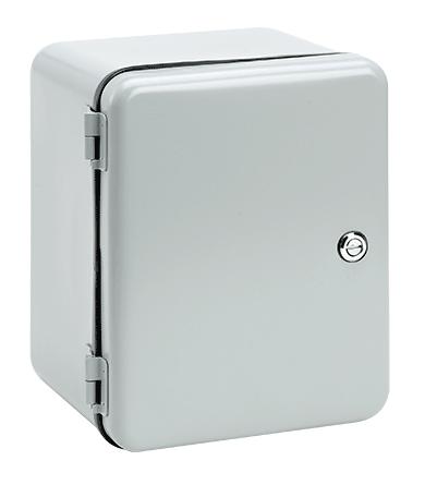 Hoffman D1084IS 10 x 8 x 4 Inch NEMA 12 Steel Hinged Cover Junction Box