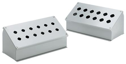 Hoffman E8PBA 7.25 x 10.75 x 6.75 Inch Gray 14 Gauge Steel NEMA 12 Push Button Enclosure