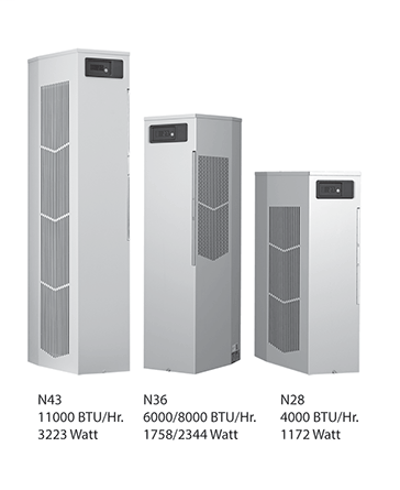 Hoffman N360816G050 8000 BTU/HR 115 Volt Sealed Enclosure Cooling Air Conditioner