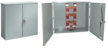 Hoffman A800HCT1R 36 x 36 x 11 Inch 14 Gauge Steel NEMA 3R Hinged 2-Door Current Transformer Cabinet