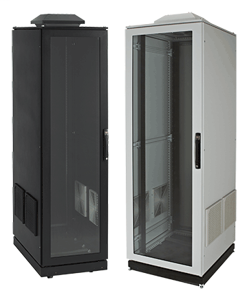 Hoffman PSC20610BFP 2000 x 600 x 1000 mm Black Proline Voice/Data and Server Cabinet with Fan Package