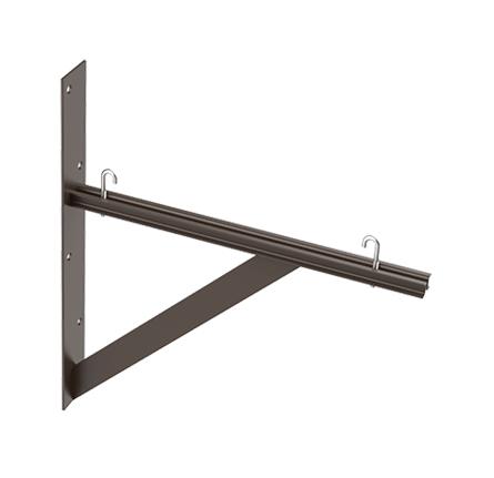 Hoffman LTSB18BLK 18 Inch Black Triangle Support Bracket