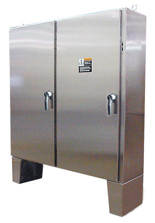 Hoffman A60X4912SSLPN4 60.12 x 49.79 x 12.12 Inch 12 Gauge 304 Stainless Steel NEMA 4X 2-Door Disconnect Enclosure