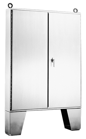 Hoffman A604820SSLP 60.06 x 48.06 x 20.06 Inch 12 Gauge 304 Stainless Steel NEMA 12 2-Door Floor Mount Enclosure